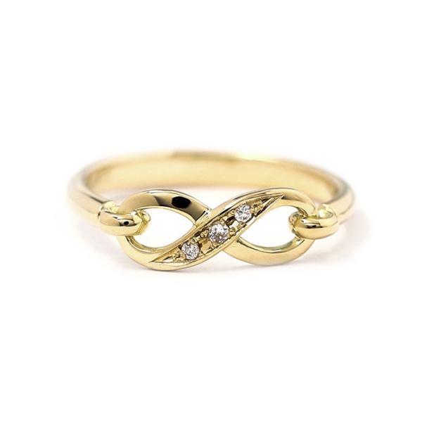 シンパシーオブソウル 指輪 SYMPATHY OF SOUL Infinity Band Ring K18 Yellow Gold w/Diamond インフィニティ バンド リング K18 YG w/ダイヤモンド charger 03