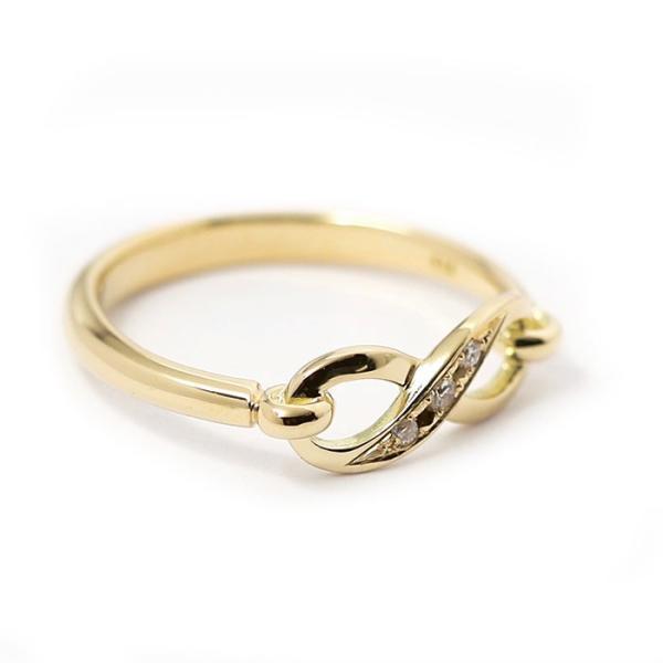 シンパシーオブソウル 指輪 SYMPATHY OF SOUL Infinity Band Ring K18 Yellow Gold w/Diamond インフィニティ バンド リング K18 YG w/ダイヤモンド charger 04