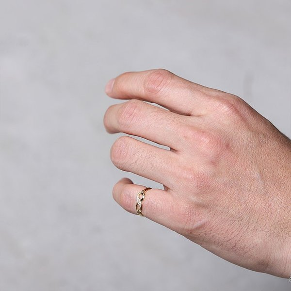 シンパシーオブソウル 指輪 SYMPATHY OF SOUL Infinity Band Ring K18 Yellow Gold w/Diamond インフィニティ バンド リング K18 YG w/ダイヤモンド charger 07