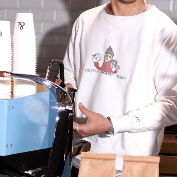 レミレリーフ × チャージャー REMI RELIEF × CHARGER COFFE STAND コラボ スウェット プルオーバー OFF WHITE オフホワイト 2019春夏新作|charger|02