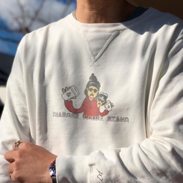 レミレリーフ × チャージャー REMI RELIEF × CHARGER COFFE STAND コラボ スウェット プルオーバー OFF WHITE オフホワイト 2019春夏新作|charger|04