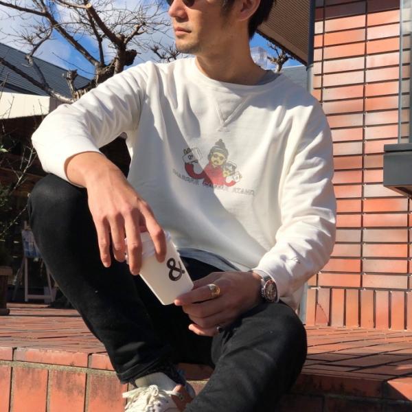 レミレリーフ × チャージャー REMI RELIEF × CHARGER COFFE STAND コラボ スウェット プルオーバー OFF WHITE オフホワイト 2019春夏新作|charger|06