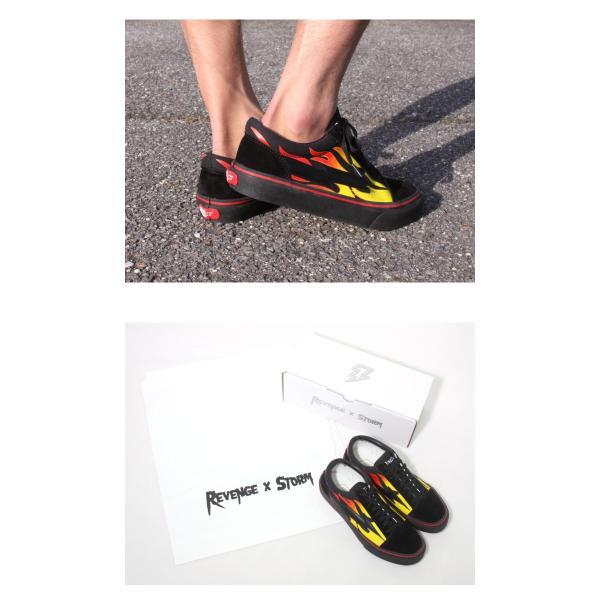限定モデル 2018春夏 リミテッド REVENGE × STORM  IANCONNOR リベンジストーム イアンコナー キャンバス スニーカー BLACK FLAME ブラック フレイム|charger|07
