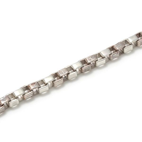 スーマンダックワ ブレス Suman Dhakhwa コンビ ベネチアンチェーン ブレスレット シルバー 銅 木目金 Combi Venetian Chain Bracelet Silver Copper MOKUMEGANE|charger|02
