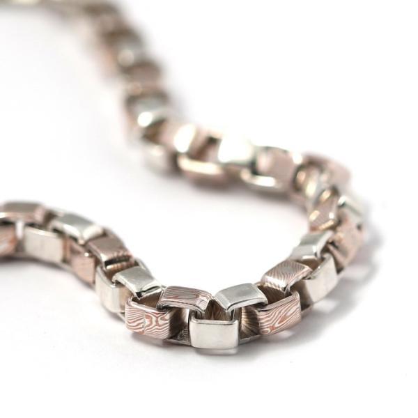 スーマンダックワ ブレス Suman Dhakhwa コンビ ベネチアンチェーン ブレスレット シルバー 銅 木目金 Combi Venetian Chain Bracelet Silver Copper MOKUMEGANE|charger|03