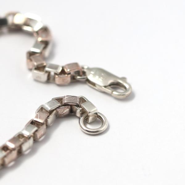 スーマンダックワ ブレス Suman Dhakhwa コンビ ベネチアンチェーン ブレスレット シルバー 銅 木目金 Combi Venetian Chain Bracelet Silver Copper MOKUMEGANE|charger|04