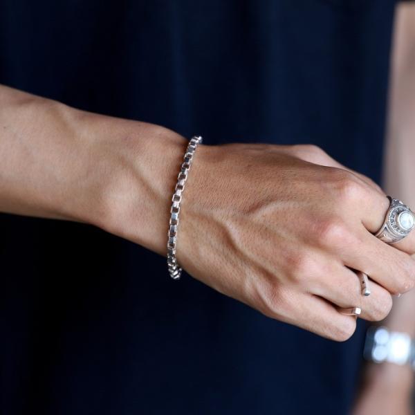 スーマンダックワ ブレス Suman Dhakhwa コンビ ベネチアンチェーン ブレスレット シルバー 銅 木目金 Combi Venetian Chain Bracelet Silver Copper MOKUMEGANE|charger|08