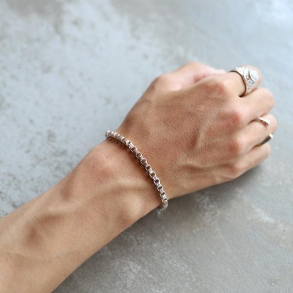 スーマンダックワ ブレス Suman Dhakhwa コンビ ベネチアンチェーン ブレスレット シルバー 銅 木目金 Combi Venetian Chain Bracelet Silver Copper MOKUMEGANE|charger|09