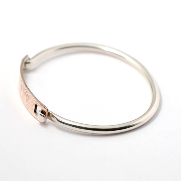 スーマンダックワ バングル Suman Dhakhwa モクメ ヒンジ バングル シルバー 銅 木目金 Star Pattern MOKUME Hinge Banglle Silver Copper MOKUMEGANE charger 03