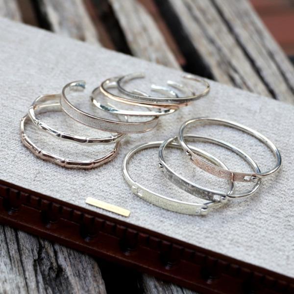 スーマンダックワ バングル Suman Dhakhwa モクメ ナロー カフ シルバー 銅 木目金 MOKUME Narrow Flat Cuff Silver Copper MOKUMEGANE|charger|11