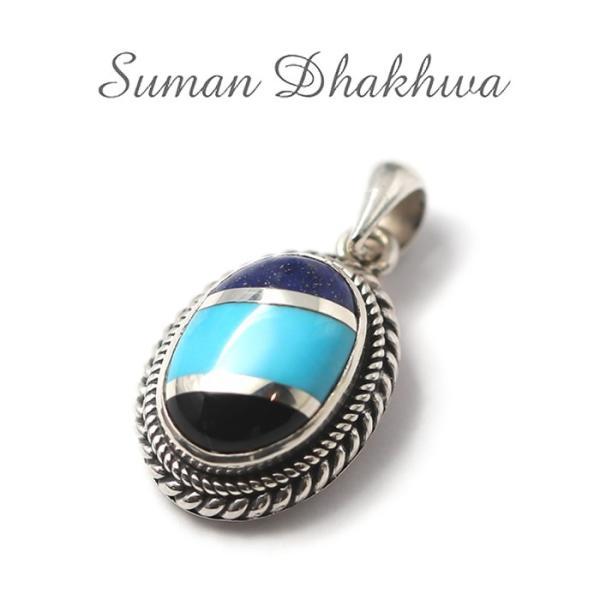 スーマンダックワ ペンダント Suman Dhakhwa ツイステッド ストーン ペンダント インレイ Twisted Stone Pendant Inlay|charger