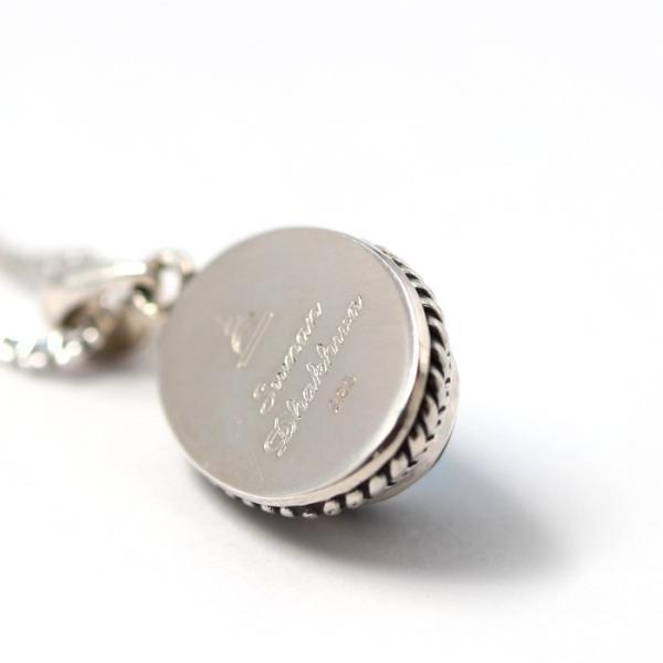 スーマンダックワ ネックレス Suman Dhakhwa ツイステッド ストーン ペンダント ベネチアン チェーンセット Twisted Stone Pendant Inlay Venetian Chain Silver|charger|07
