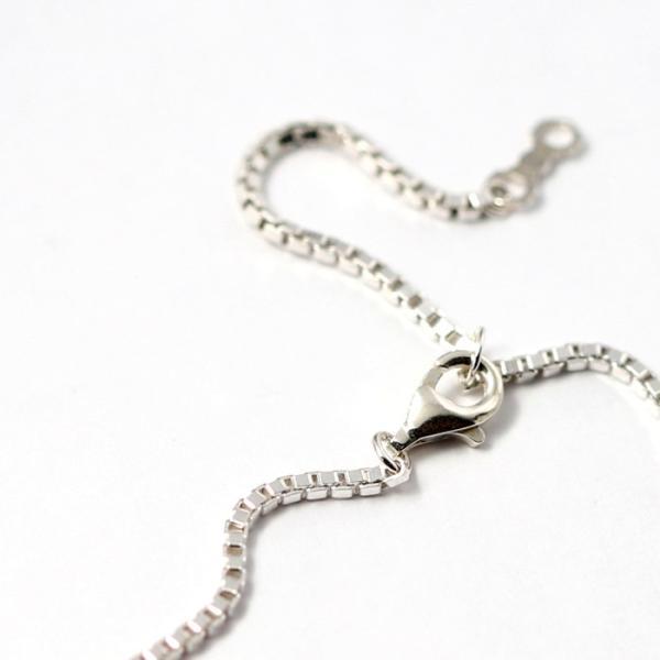 スーマンダックワ ネックレス Suman Dhakhwa ツイステッド ストーン ペンダント ベネチアン チェーンセット Twisted Stone Pendant Inlay Venetian Chain Silver|charger|09