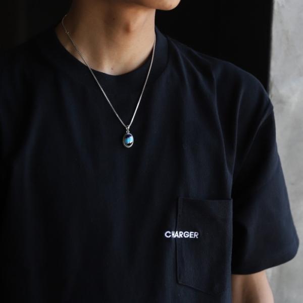 スーマンダックワ ネックレス Suman Dhakhwa ツイステッド ストーン ペンダント ベネチアン チェーンセット Twisted Stone Pendant Inlay Venetian Chain Silver|charger|10