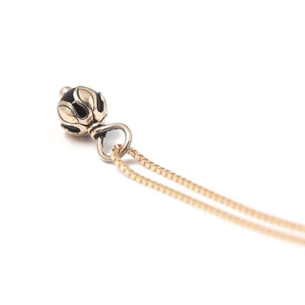 スーマンダックワ ネックレス Suman Dhakhwa ロータス ストーン ペンダント ベネチアン チェーンセット K10 Lotus Stone Pendant Onyx Venetian Chain K10YG|charger|06