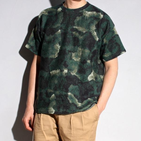 ラッピンノット Tシャツ WRAPINKNOT 総柄 ニットTシャツ GREEN グリーン 2019春夏新作|charger
