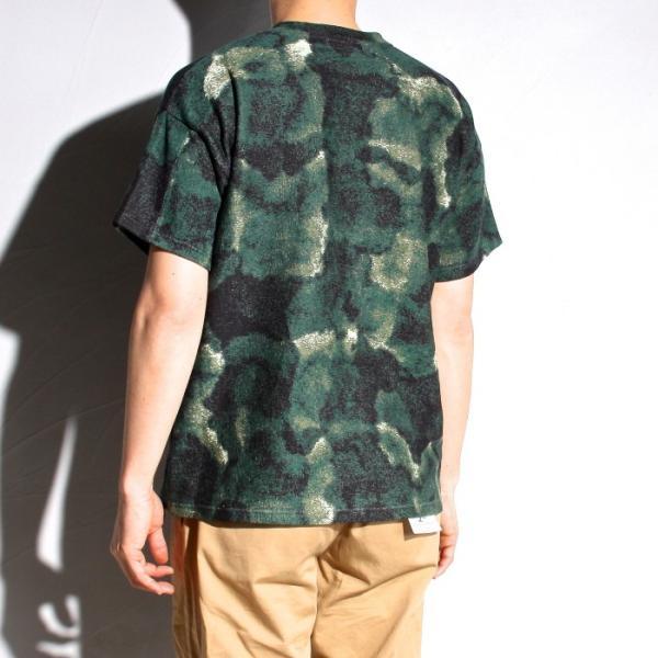 ラッピンノット Tシャツ WRAPINKNOT 総柄 ニットTシャツ GREEN グリーン 2019春夏新作|charger|02