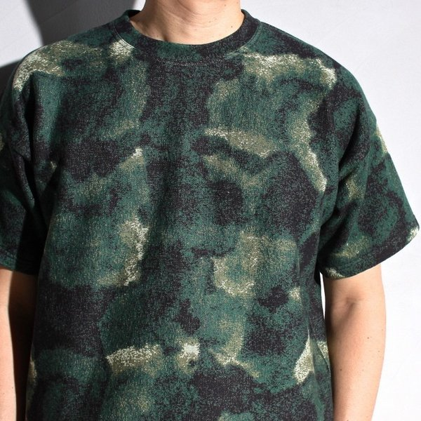 ラッピンノット Tシャツ WRAPINKNOT 総柄 ニットTシャツ GREEN グリーン 2019春夏新作|charger|03