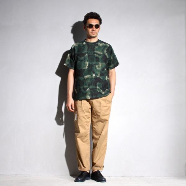 ラッピンノット Tシャツ WRAPINKNOT 総柄 ニットTシャツ GREEN グリーン 2019春夏新作|charger|05