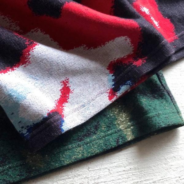 ラッピンノット Tシャツ WRAPINKNOT 総柄 ニットTシャツ GREEN グリーン 2019春夏新作|charger|06