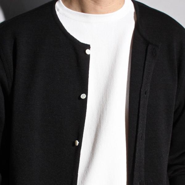 ラッピンノット カーディガン WRAPINKNOT ニットシャツ カーディガン BLACK ブラック 2019春夏新作 charger 03