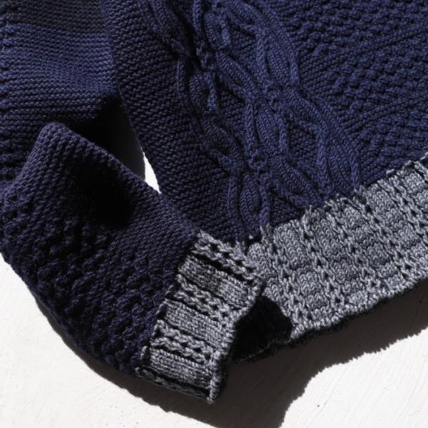 ラッピンノット セーター WRAPINKNOT チェンジカラー ハイネック セーター CHANGE COLOR HIGH NECK SWEATER ブラック BLACK 2019秋冬新作 charger 09