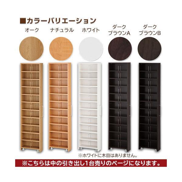 本棚 収納棚 木製 薄型 漫画 コミック スリム 省スペース おしゃれ 大容量 キャスター A4 CD DVD BD 日本製|charisma-bon|16