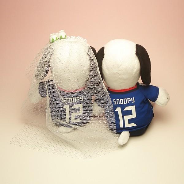 サッカー 日本代表&なでしこ  スヌーピー(ペアセット) ウェディングベール付き|charm|03