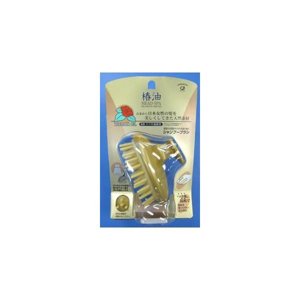 池本刷子工業 池本ブラシ  IKEMOTO 椿油 HEAD SPA ヘッドスパ ツバキ油配合シャンプーブラシ  (4970270000542)