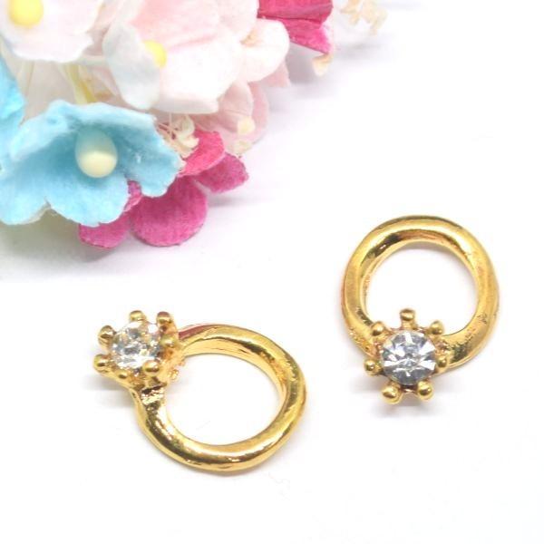 C&T ダイヤの指輪のチャーム【2個入】アクセサリー部品ネックレス材料ペンダント素材パーツ