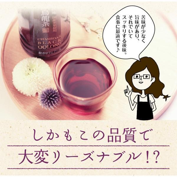 黒烏龍茶 静岡県産 ペットボトル 2リットル 2ケース 送料無料(2L×12本 高ポリフェノール ウーロン茶)|chashoan|12