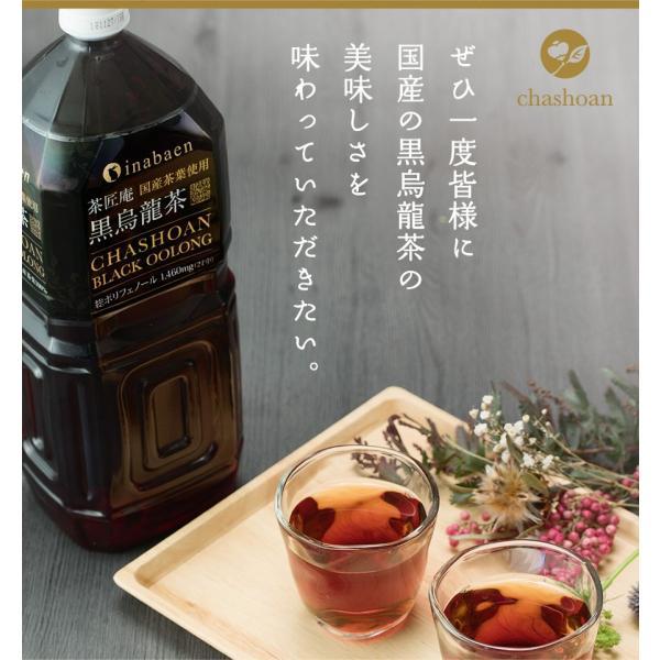 黒烏龍茶 静岡県産 ペットボトル 2リットル 2ケース 送料無料(2L×12本 高ポリフェノール ウーロン茶)|chashoan|18