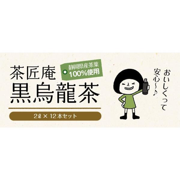 黒烏龍茶 静岡県産 ペットボトル 2リットル 2ケース 送料無料(2L×12本 高ポリフェノール ウーロン茶)|chashoan|19