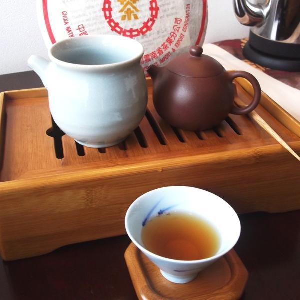 小黄印生餅 2010年 40g|chasyu-charaku|05