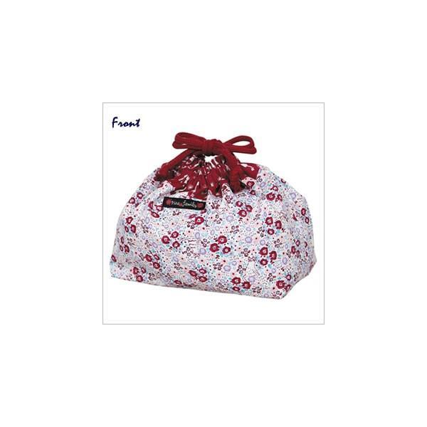 [ネコポスorゆうパケット可] ランチ巾着 (ノアファミリー猫グッズ ネコ雑貨 ねこ柄) フローラルキャット  051-A640|chatty-cloth|02