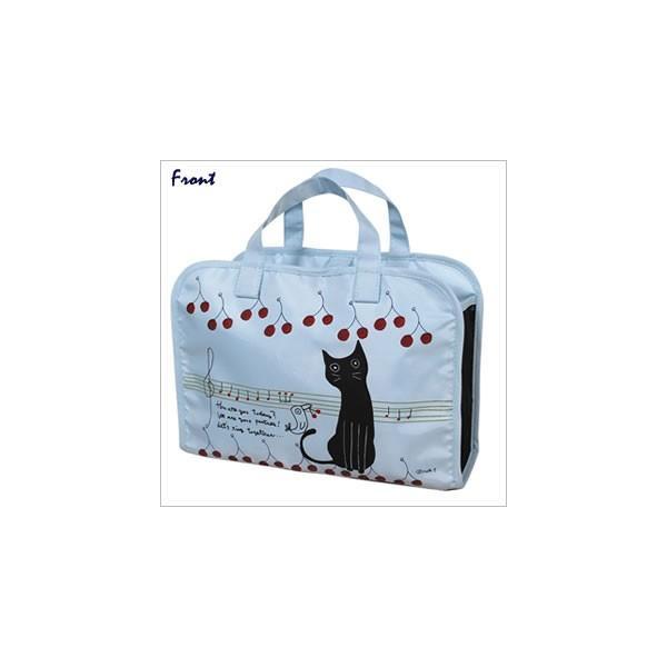 [ネコポスorゆうパケット可] スパバッグ (ノアファミリー猫グッズ ネコ雑貨 ねこ柄)  051-A646|chatty-cloth|02
