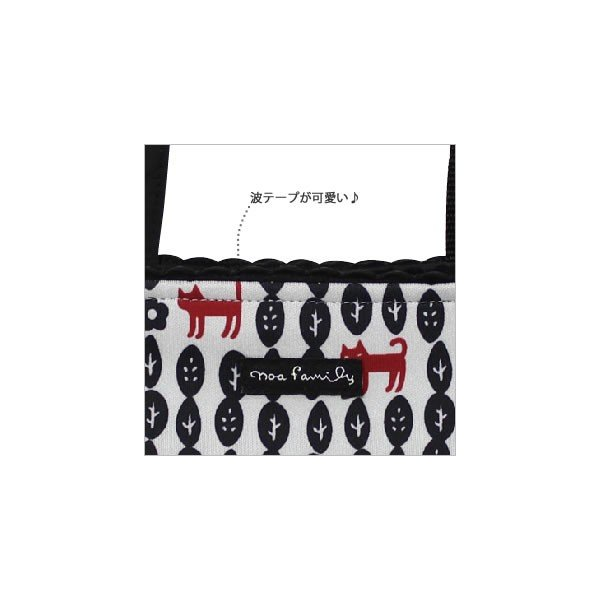 [ネコポスorゆうパケット可] トートバッグ (ノアファミリー猫グッズ ネコ雑貨 ねこ柄) リーフキャット 051-A700 2016SS|chatty-cloth|05