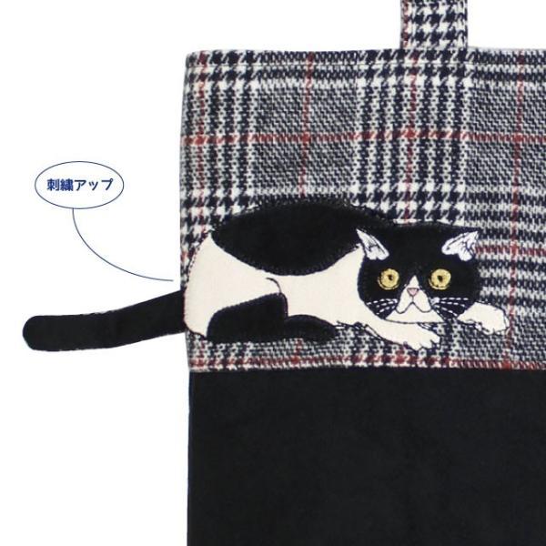 モーリー縦型トートバッグ(ノアファミリー 猫グッズ ネコ雑貨 バッグ ねこ柄) 051-A806 chatty-cloth 05