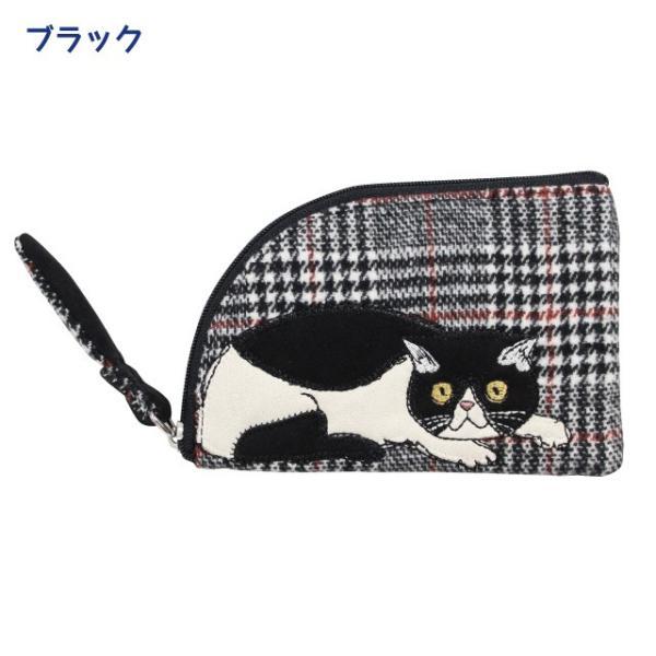 [ネコポスorゆうパケット可] モーリーフラットポーチ(ノアファミリー 猫グッズ ネコ雑貨 ポーチ ねこ柄) 051-A810 chatty-cloth 04