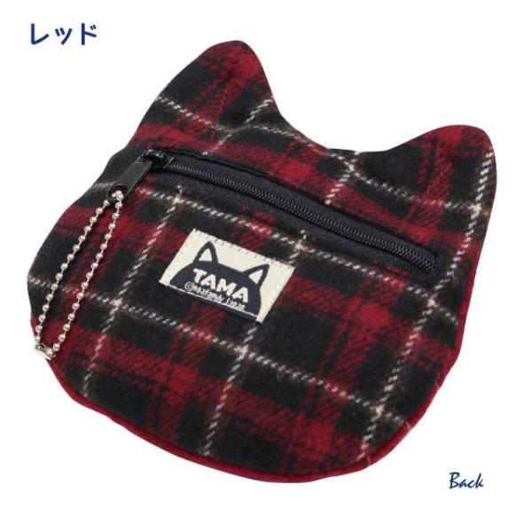 [ネコポスorゆうパケット可] 秋たま2チャームポーチ(ノアファミリー 猫グッズ ネコ雑貨 ポーチ ねこ柄) 051-A814|chatty-cloth|03