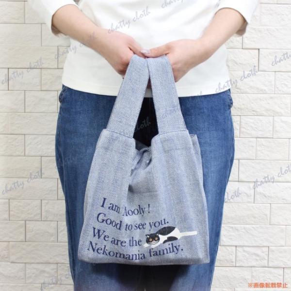 [ネコポスorゆうパケット可] デイリートート (ノアファミリー 猫グッズ ネコ雑貨 バッグ ねこ柄) 051-A836|chatty-cloth|05