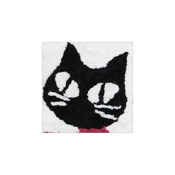 フラワーキャット スクエアマット (ノアファミリー猫グッズ ネコ雑貨 ねこ柄 玄関マット)051-H040 2016SS|chatty-cloth|02