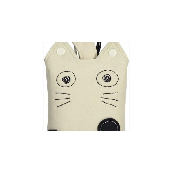 [ネコポスorゆうパケット可] モバイルケース (ノアファミリー猫グッズ ネコ雑貨 ねこ柄)  051-J401|chatty-cloth|02