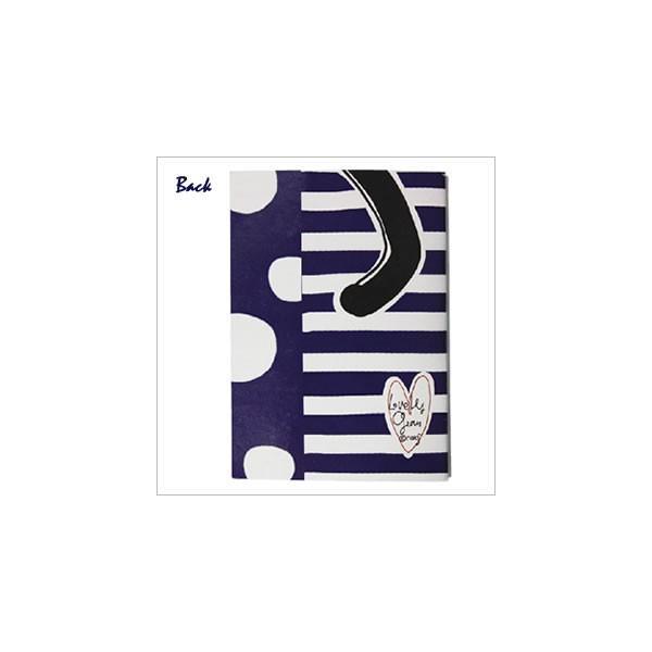 [ネコポスorゆうパケット可] ラブリージーンノート(B7サイズ) (ノアファミリー猫グッズ ネコ雑貨 ねこ柄)  051-P163|chatty-cloth|03