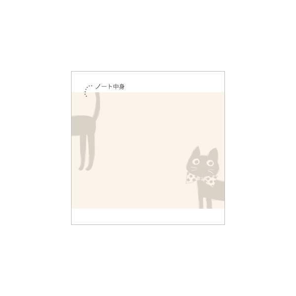 [ネコポスorゆうパケット可] ラブリージーンノート(B7サイズ) (ノアファミリー猫グッズ ネコ雑貨 ねこ柄)  051-P163|chatty-cloth|05