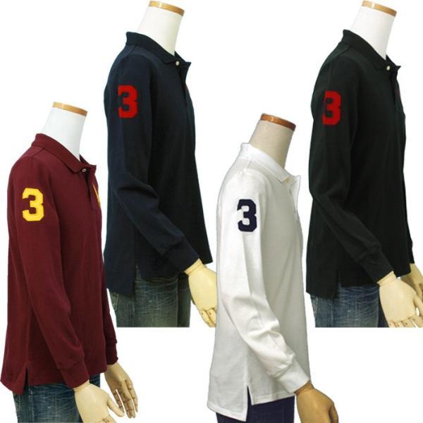 ポロ ラルフローレン  POLO Ralph Lauren Boys  ビッグポニー 長袖 鹿の子ポロシャツ 定番   #323703636|cheap-tock|03
