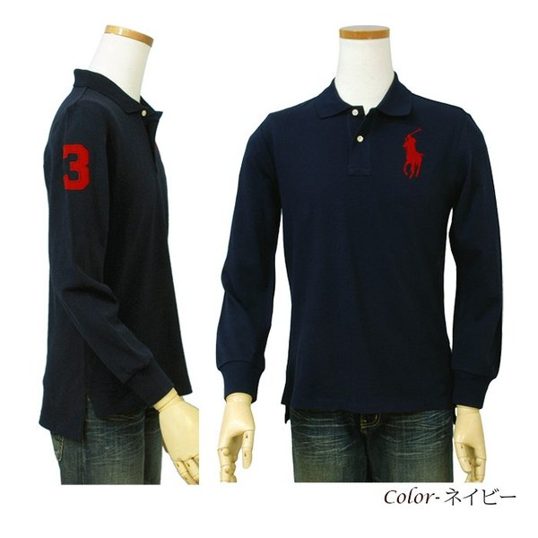 ポロ ラルフローレン  POLO Ralph Lauren Boys  ビッグポニー 長袖 鹿の子ポロシャツ 定番   #323703636|cheap-tock|06