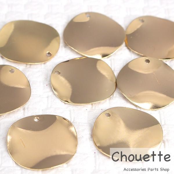 チャーム ウェーブ サークル 銅製品 Sサイズ 4個 手芸材料 パーツ 素材  大人 キッズ 子供 レジン pt-738b
