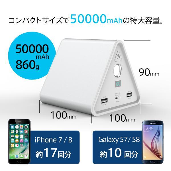 モバイルバッテリー iPhone / iPad / Android 超大容量 チーロ cheero Power Mountain 50000mAh Power Delivery USB Type C 入出力口搭載 急速充電 対応|cheeromart|02