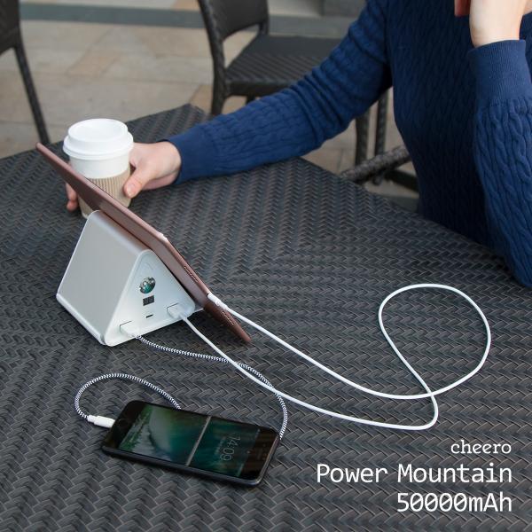 モバイルバッテリー iPhone / iPad / Android 超大容量 チーロ cheero Power Mountain 50000mAh Power Delivery USB Type C 入出力口搭載 急速充電 対応|cheeromart|09